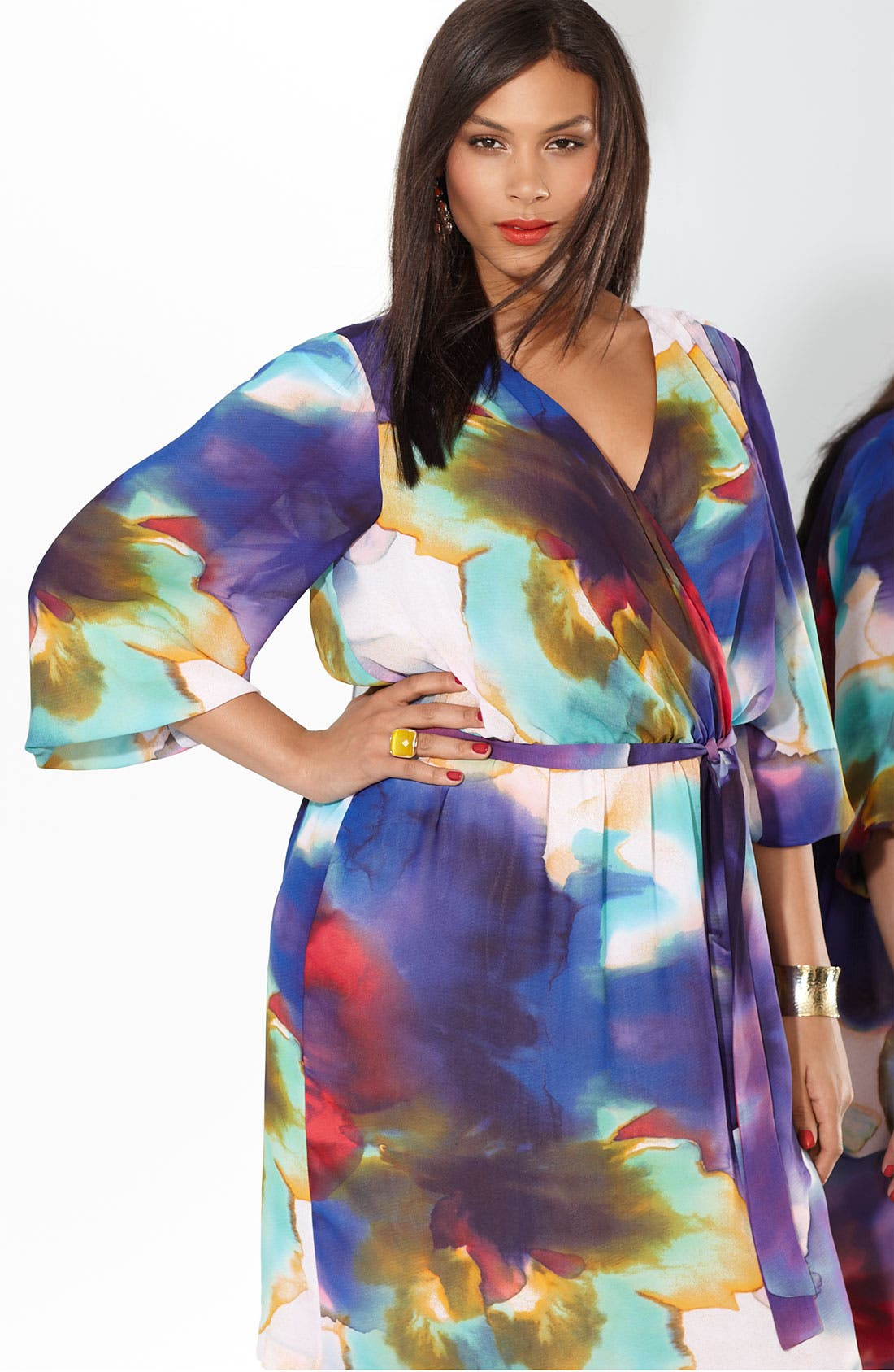 Alternate Image 4  - Suzi Chin for Maggy Boutique Faux Wrap Dress (Plus)