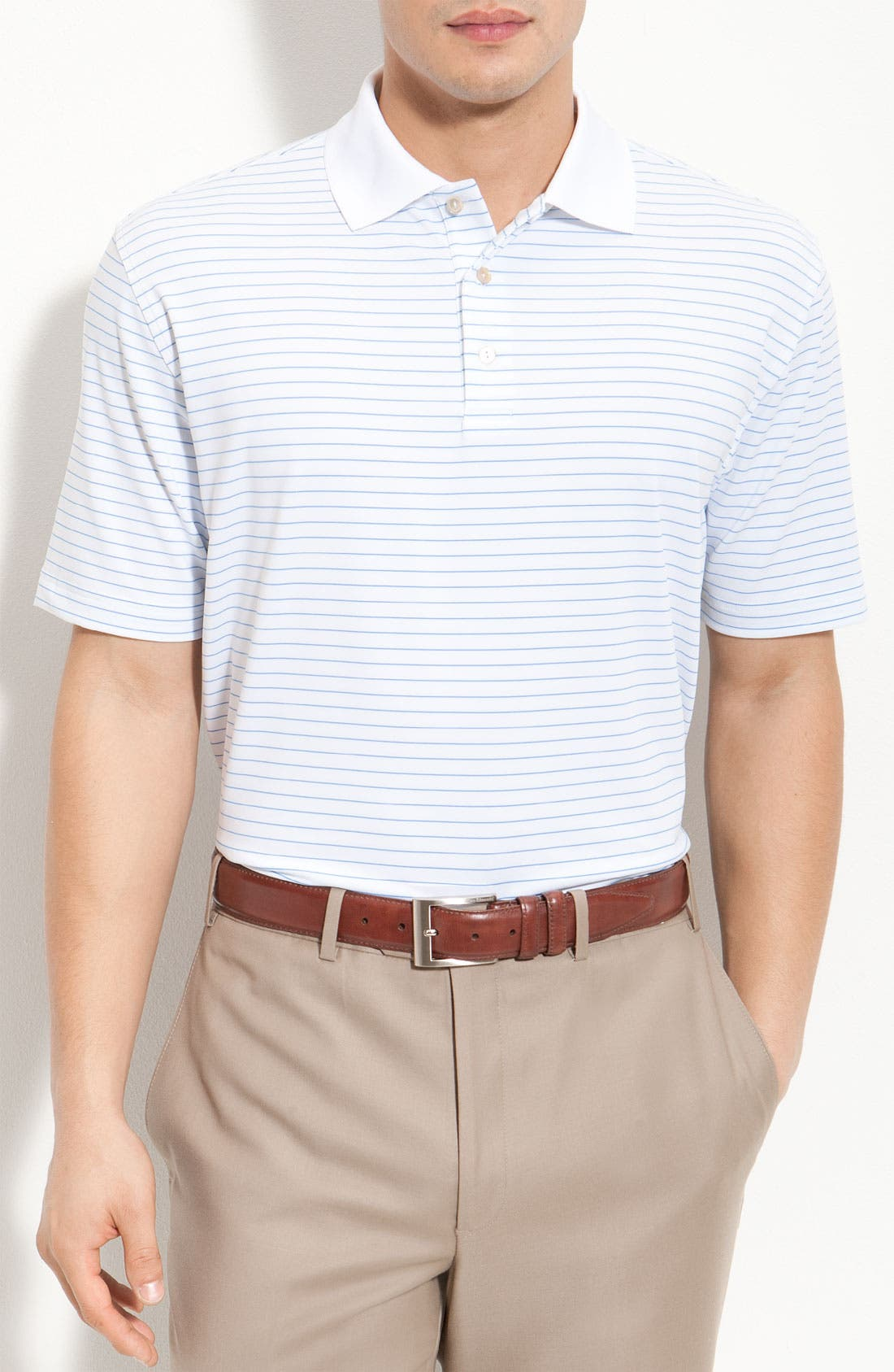 Alternate Image 1 Selected - Peter Millar 'Single Stripe Lisle' Polo