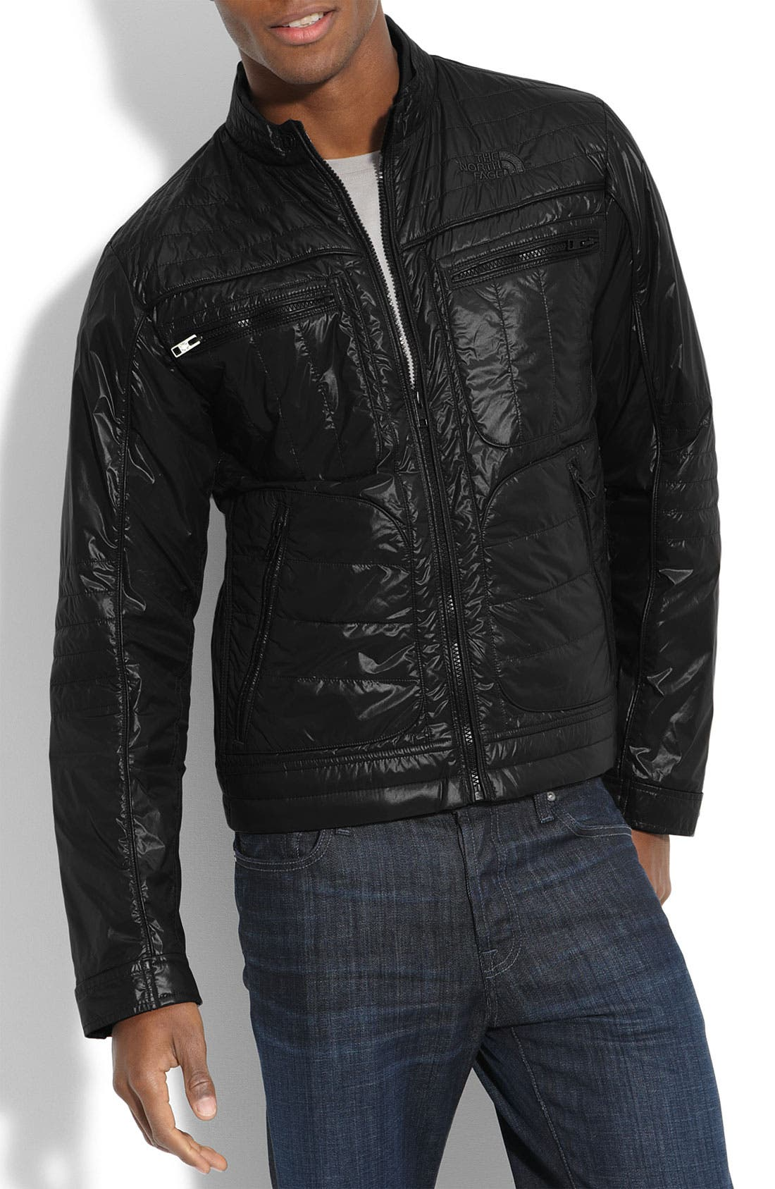 Alternate Image 1 Selected - The North Face 'Mack' Quilted Moto Jacket