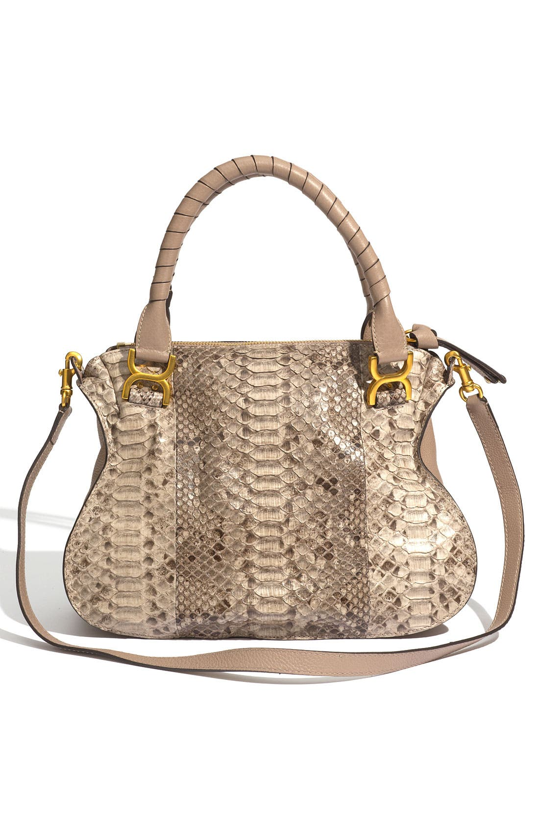 Alternate Image 4  - Chloé 'Marcie - Small' Genuine Python Satchel