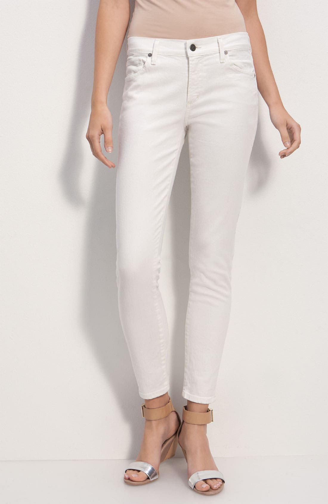 Alternate Image 2  - Citizens of Humanity 'Thompson' Crop Skinny Jeans (Vintage Ivory)