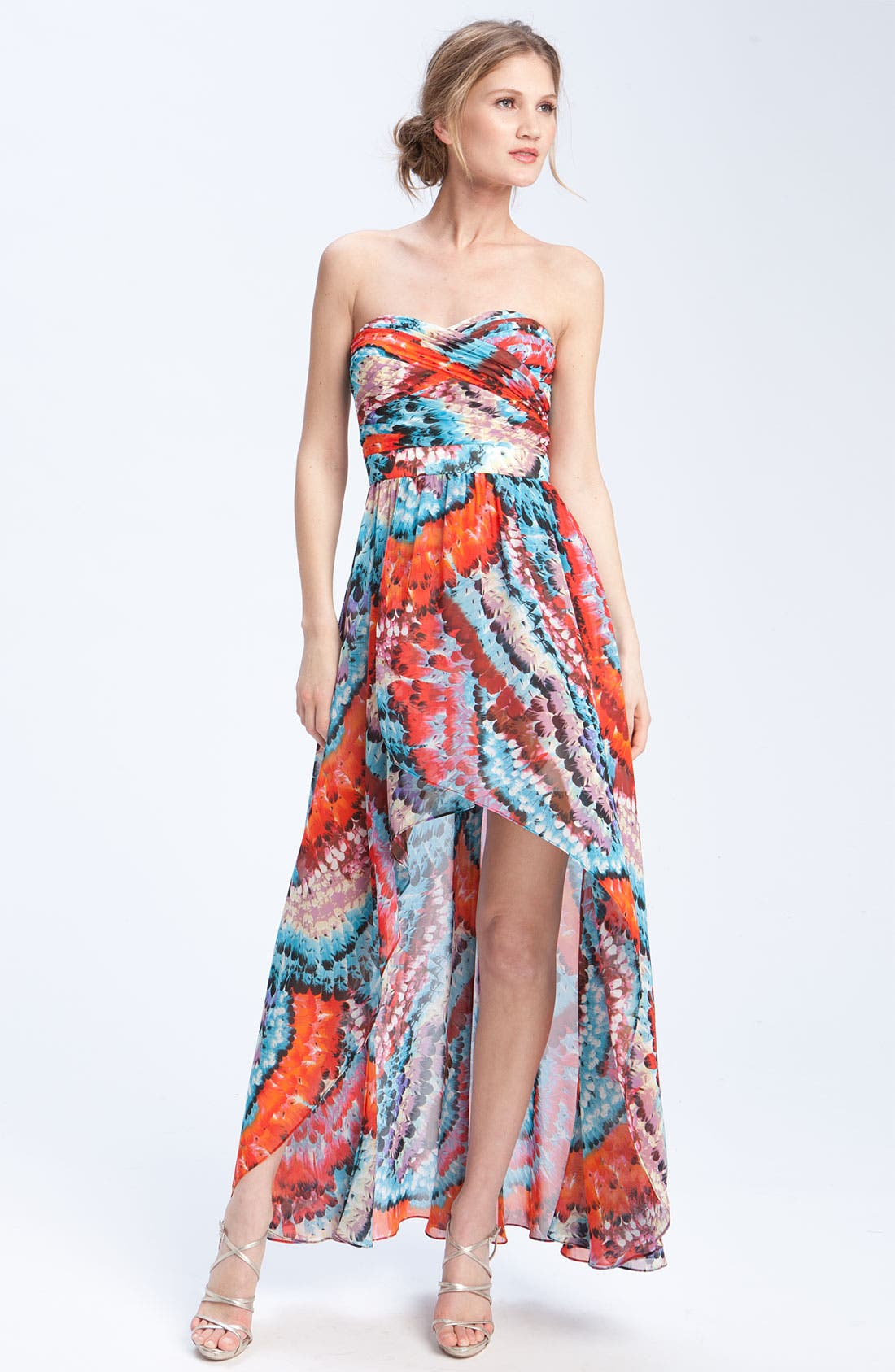 Alternate Image 1 Selected - Aidan Mattox Strapless Chiffon dress