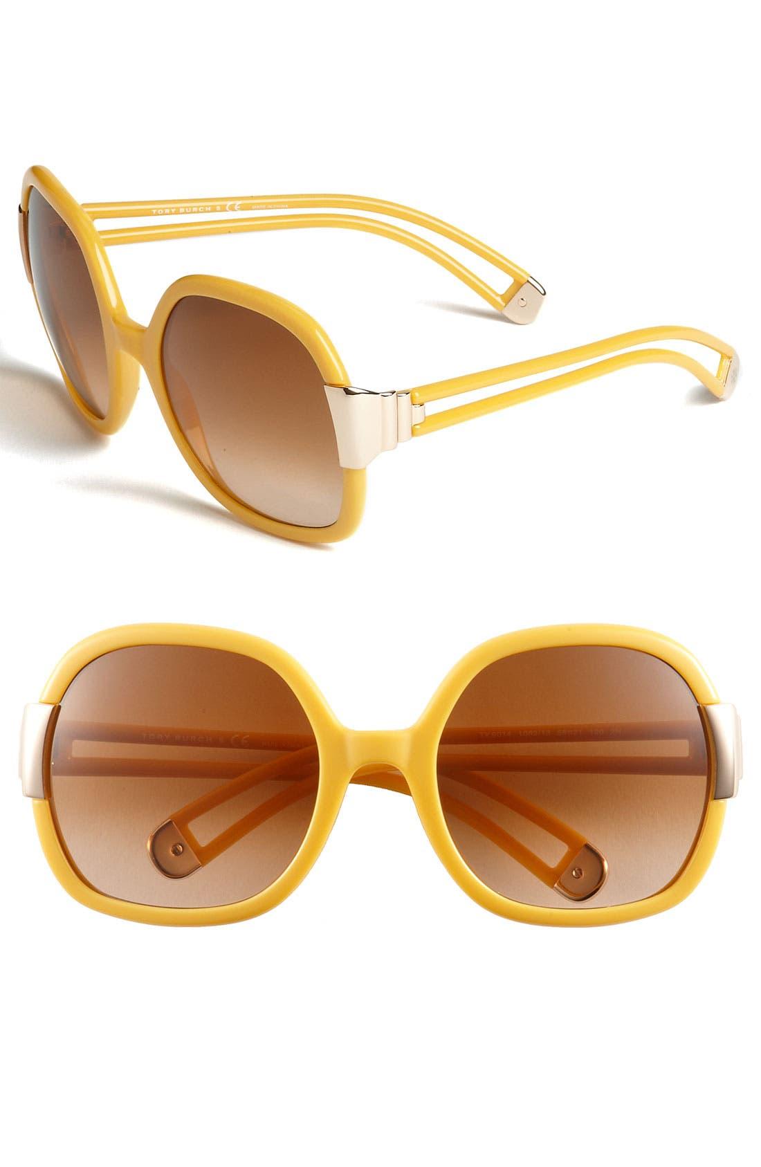 Alternate Image 1 Selected - Tory Burch 56mm Oversized Sunglasses