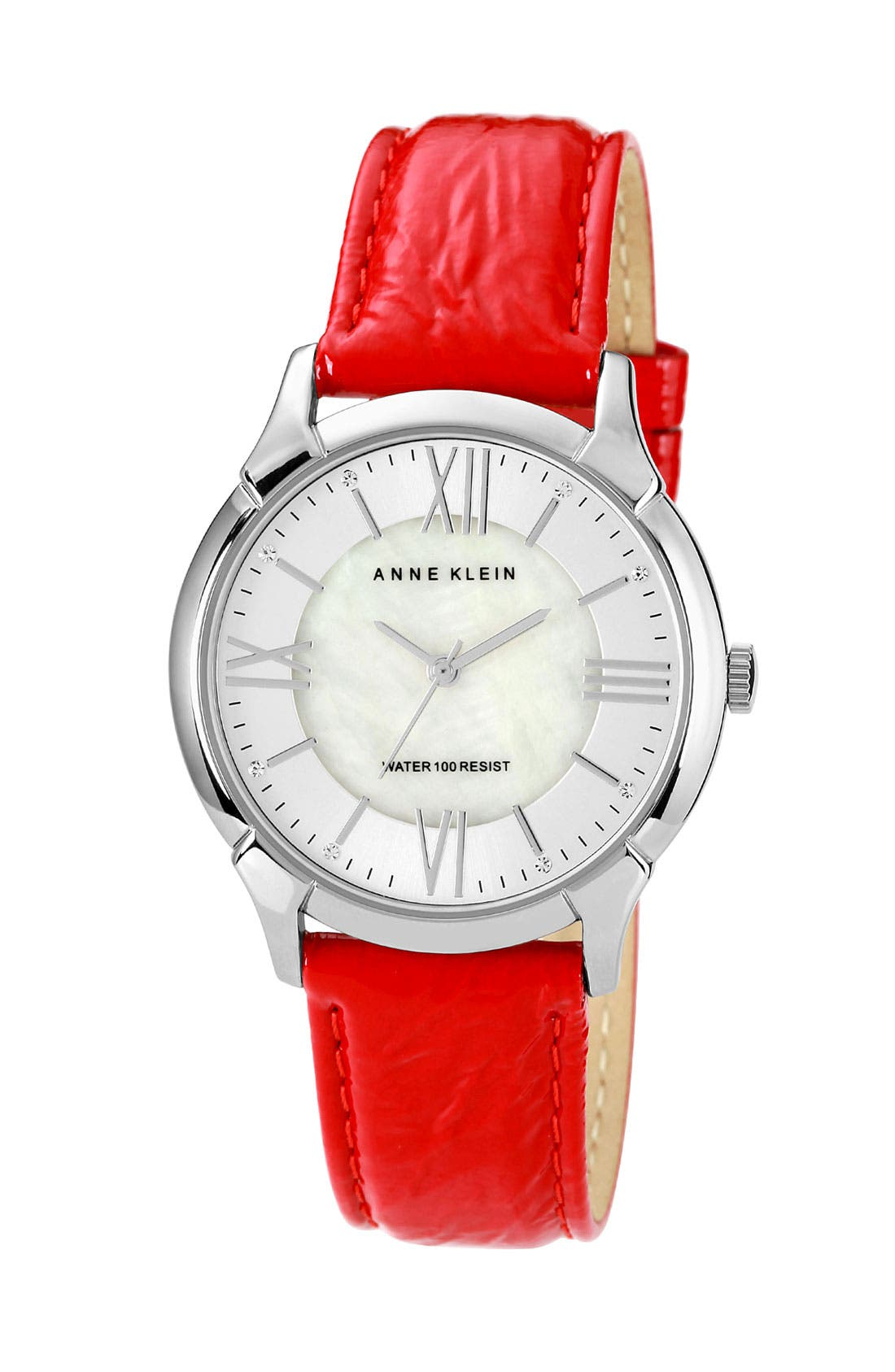 Alternate Image 1 Selected - Anne Klein Roman Numeral Patent Leather Watch