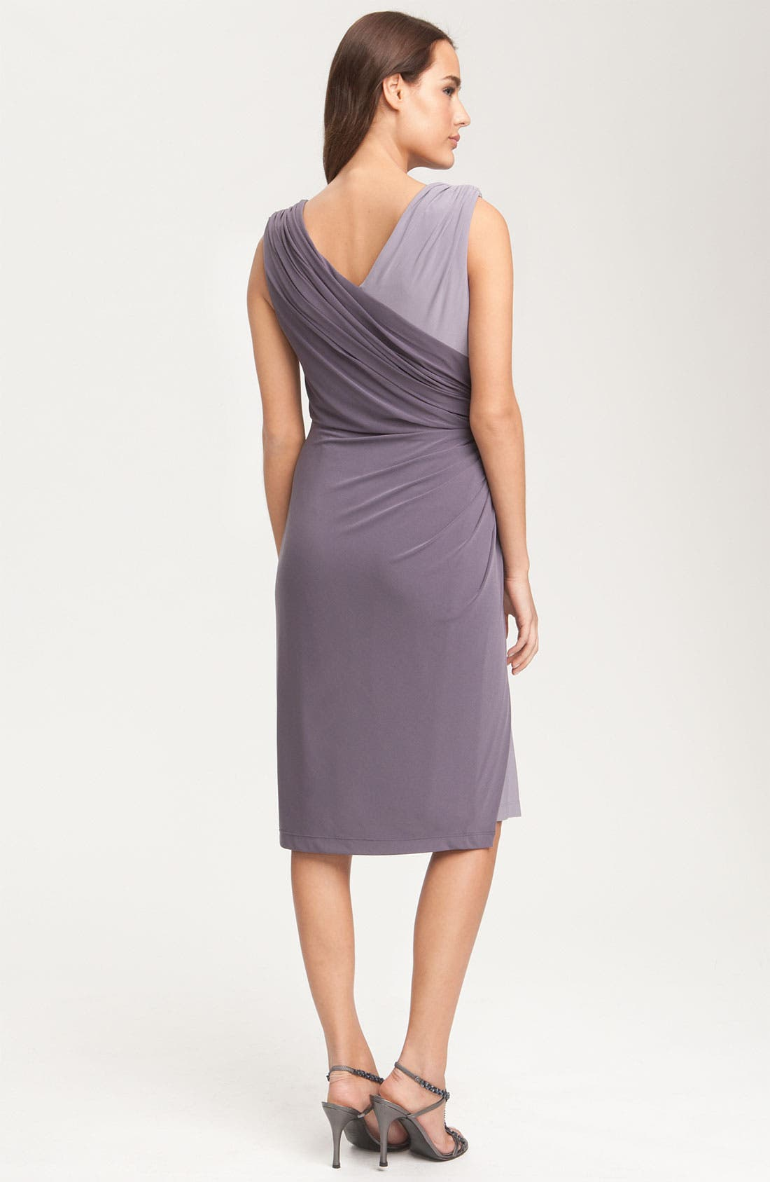 Alternate Image 2  - Adrianna Papell Two Tone Overlay Jersey Dress