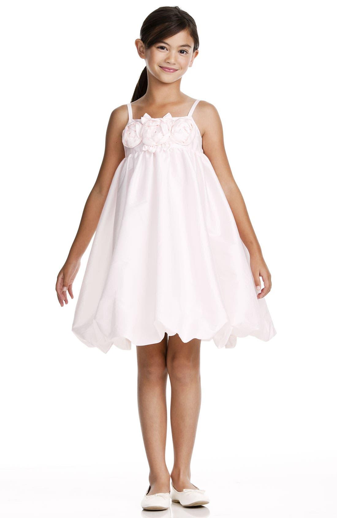 Alternate Image 1 Selected - Us Angels Taffeta Rosette Bubble Dress (Toddler)