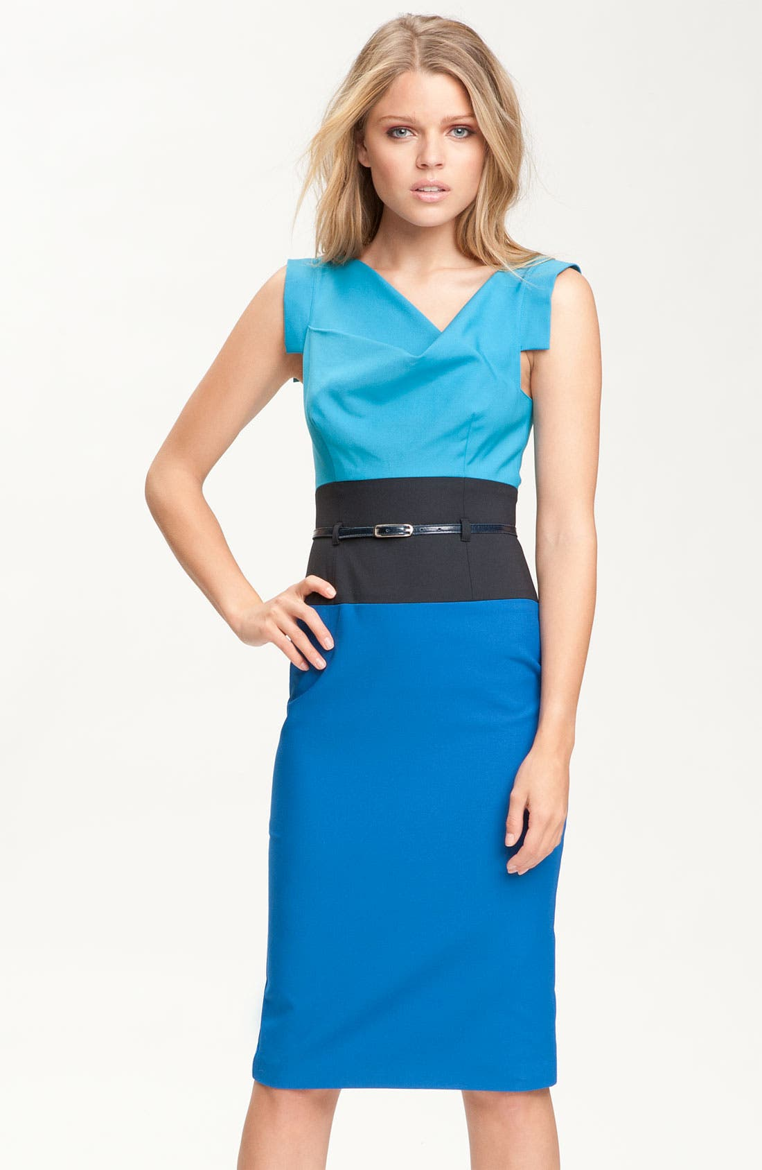 Alternate Image 1 Selected - Black Halo 'Jackie' Colorblock Pencil Dress