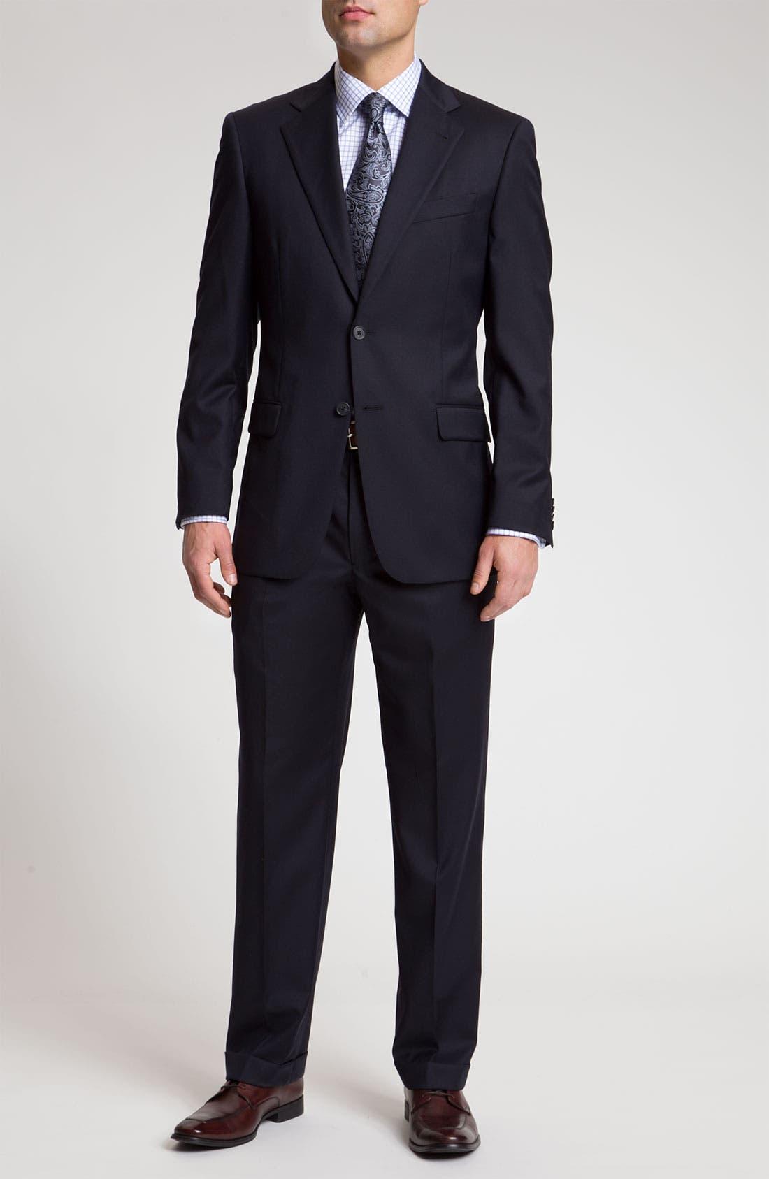 Alternate Image 2  - Joseph Abboud 'Signature Silver' Navy Wool Suit
