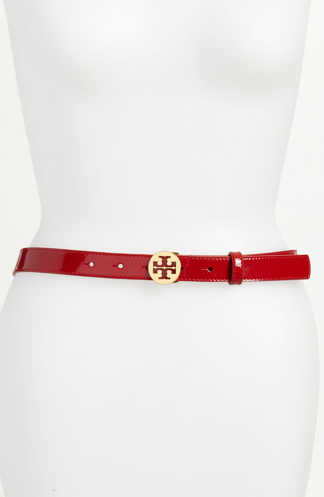 Alternate Image 1 Selected - Tory Burch 'Logo' Patent Leather Belt