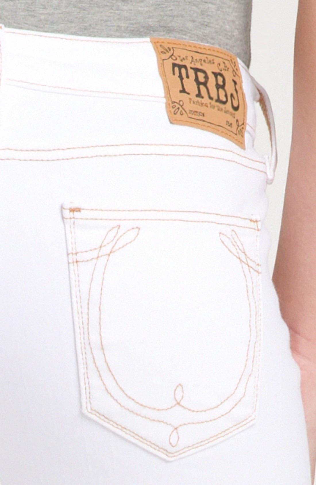 Alternate Image 3  - True Religion Brand Jeans 'Brooklyn' Skinny Crop Jeans (Optic White)