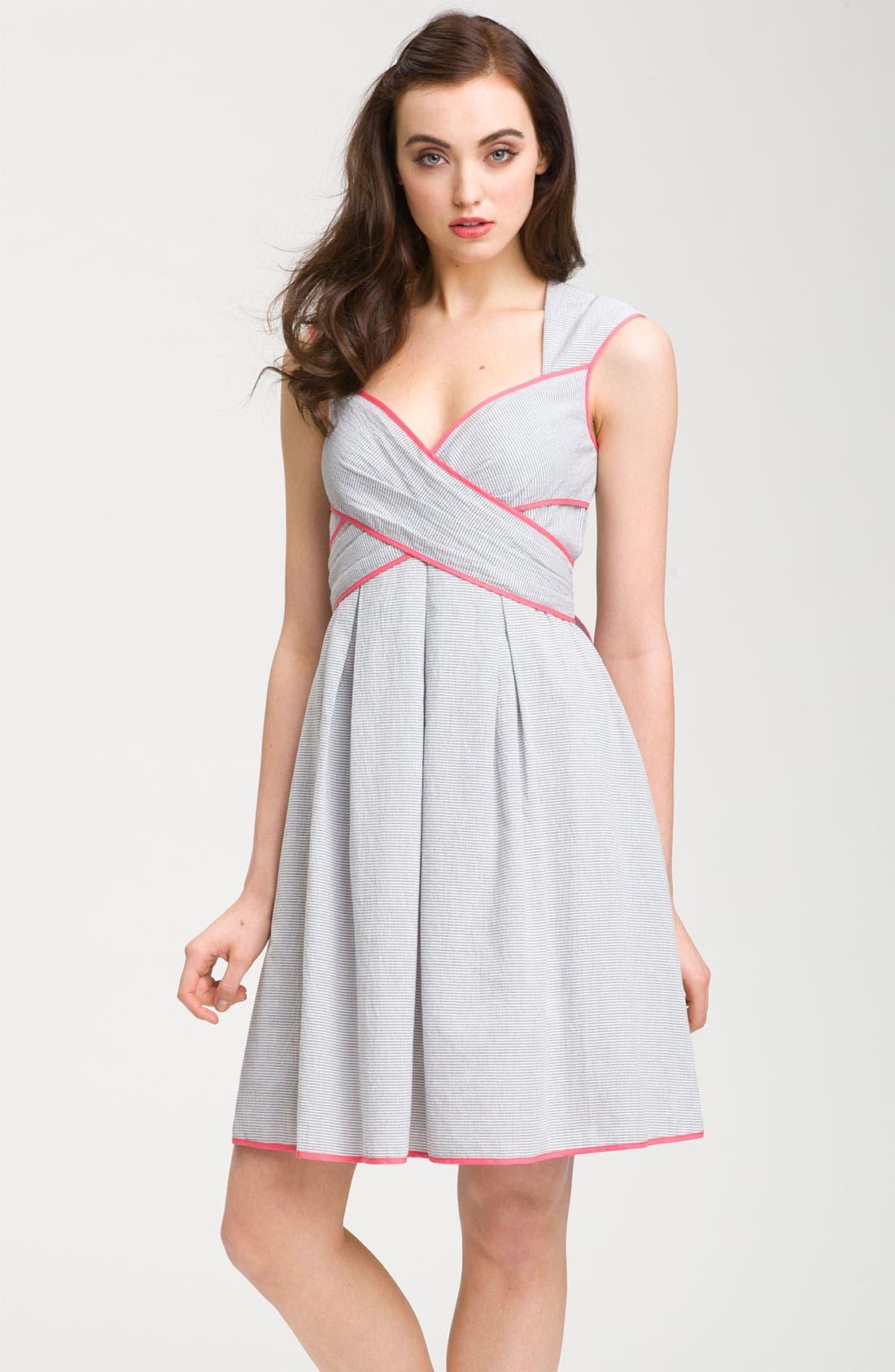 Alternate Image 1 Selected - Jessica Simpson Seersucker Cotton Sundress