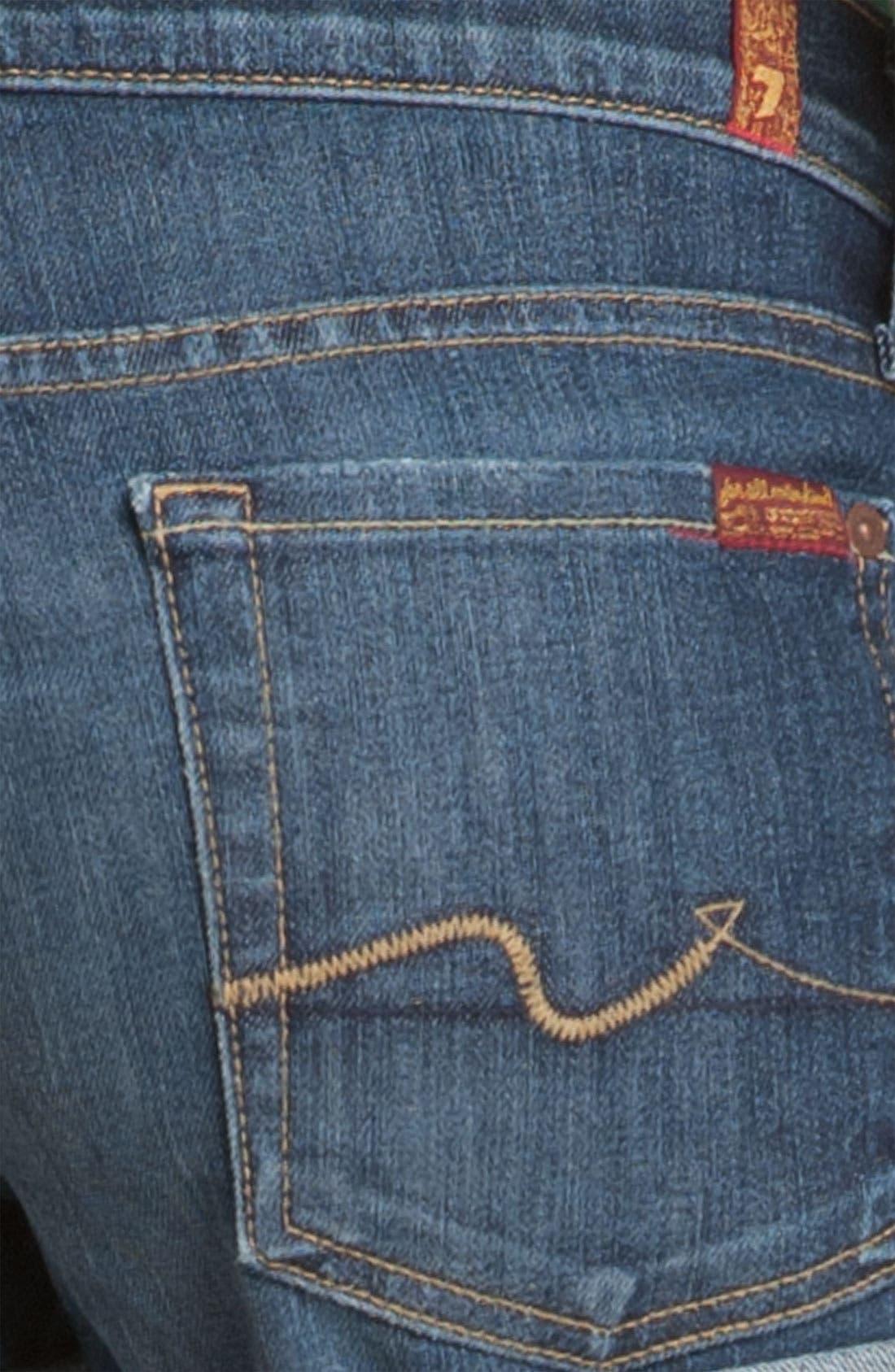 Alternate Image 3  - 7 For All Mankind® Roll Cuff Denim Shorts (Nouveau NY Dark Wash)
