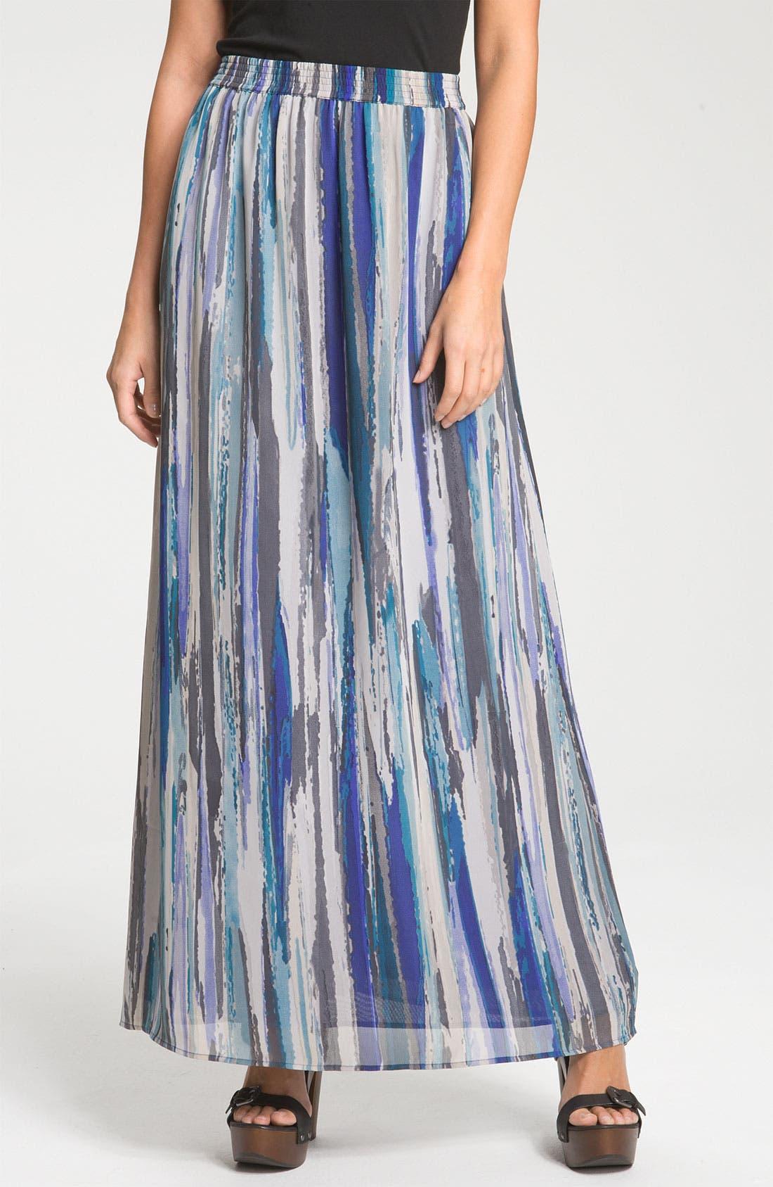 Alternate Image 1 Selected - Halogen® Chiffon Maxi Skirt
