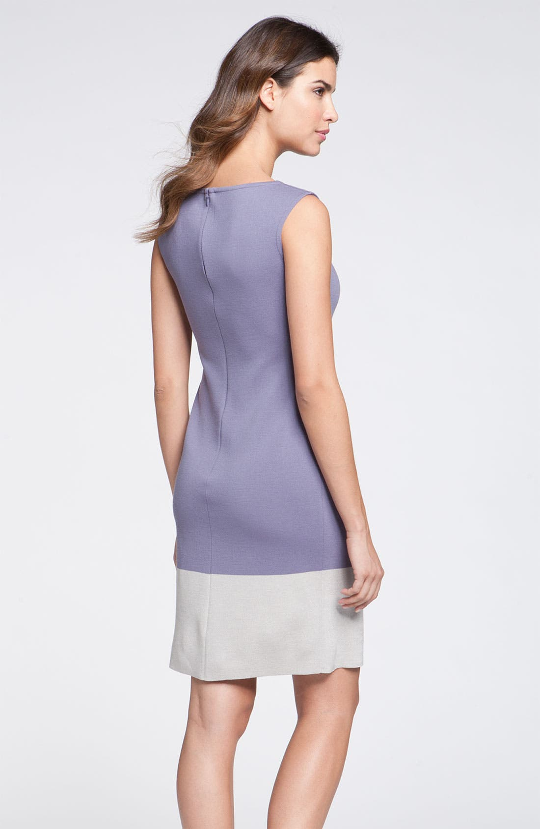 Alternate Image 2  - St. John Collection Colorblock Milano Knit Sheath Dress