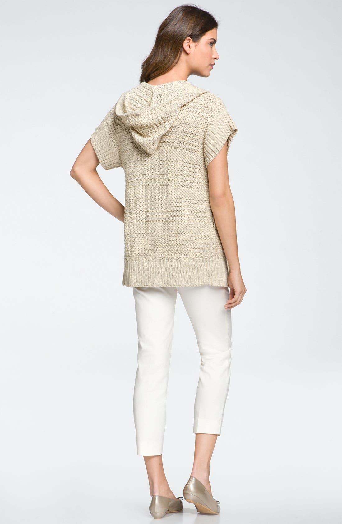 Alternate Image 5  - St John Yellow Label Textured Knit Hooded Cardigan
