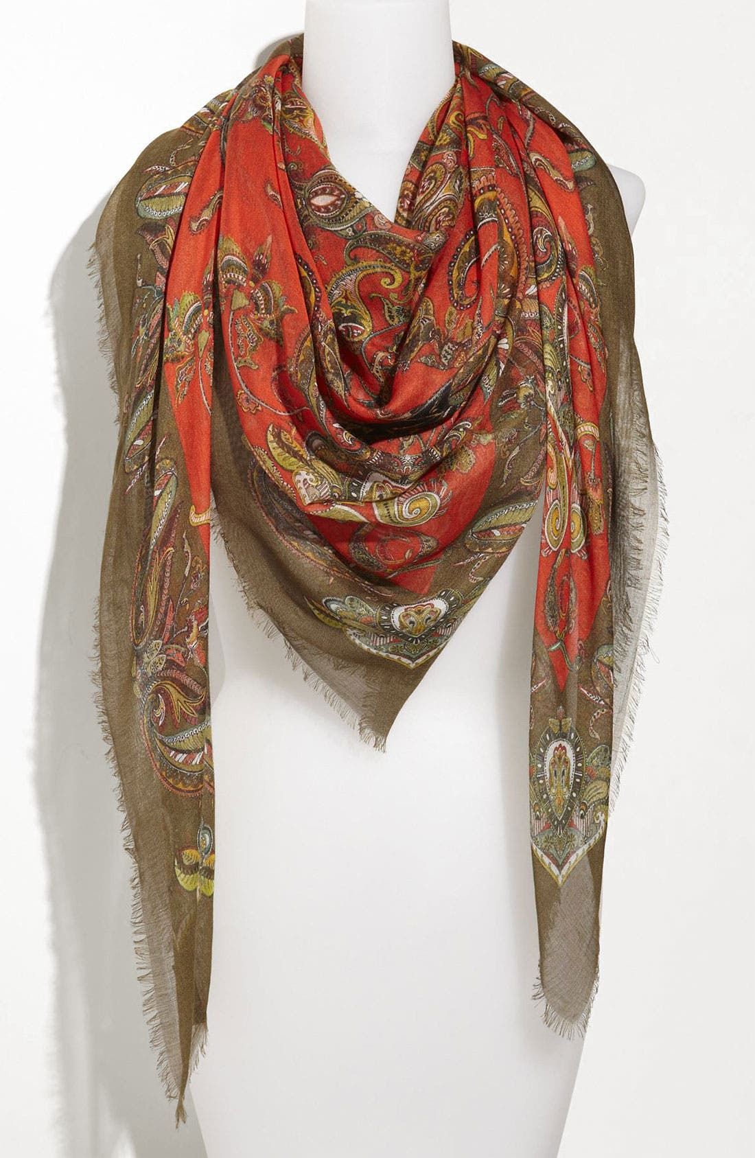 Alternate Image 1 Selected - Alexander McQueen Floral Paisley Pashmina