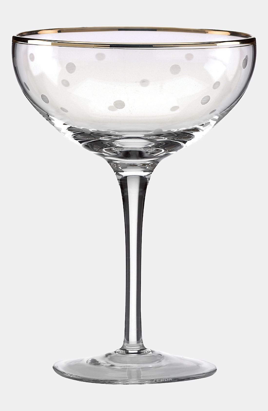 Alternate Image 2  - kate spade new york 'larabee dot fête - mini' champagne saucer (Set of 4)