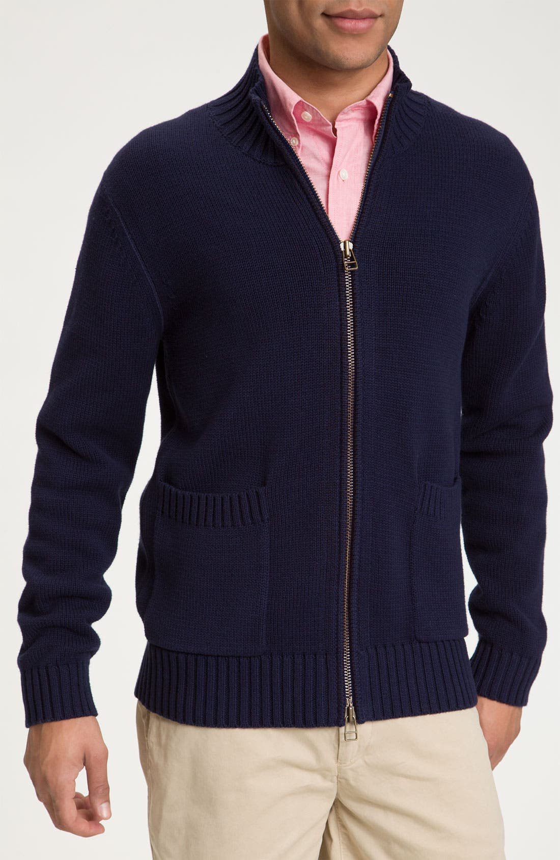 Alternate Image 1 Selected - Jack Spade 'Mookie' Zip Sweater