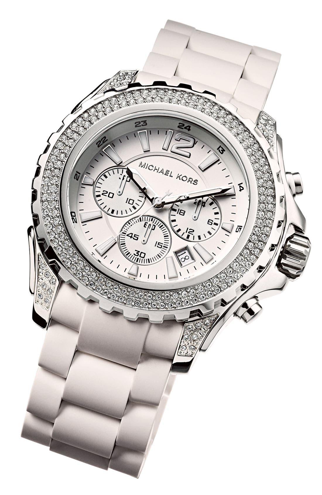 Alternate Image 2  - Michael Kors 'Drake' Silicone Bracelet Watch
