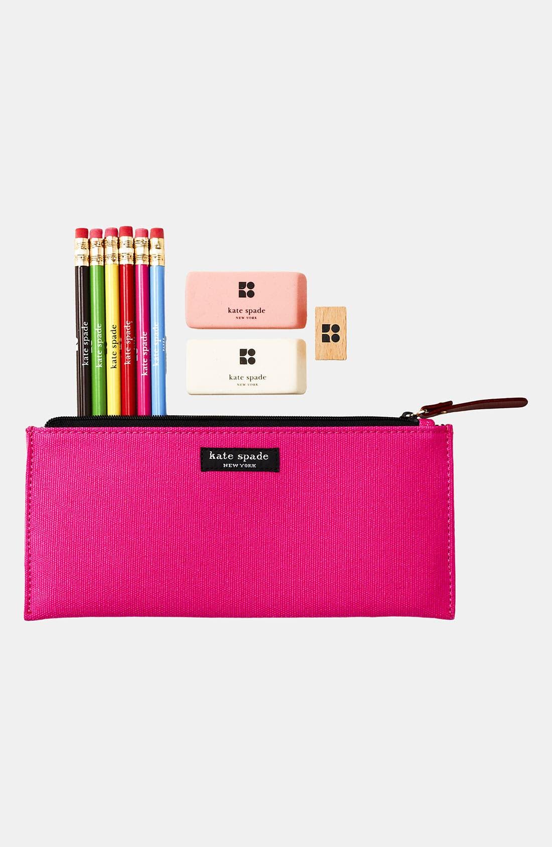 Main Image - kate spade new york 'becca' pencil case