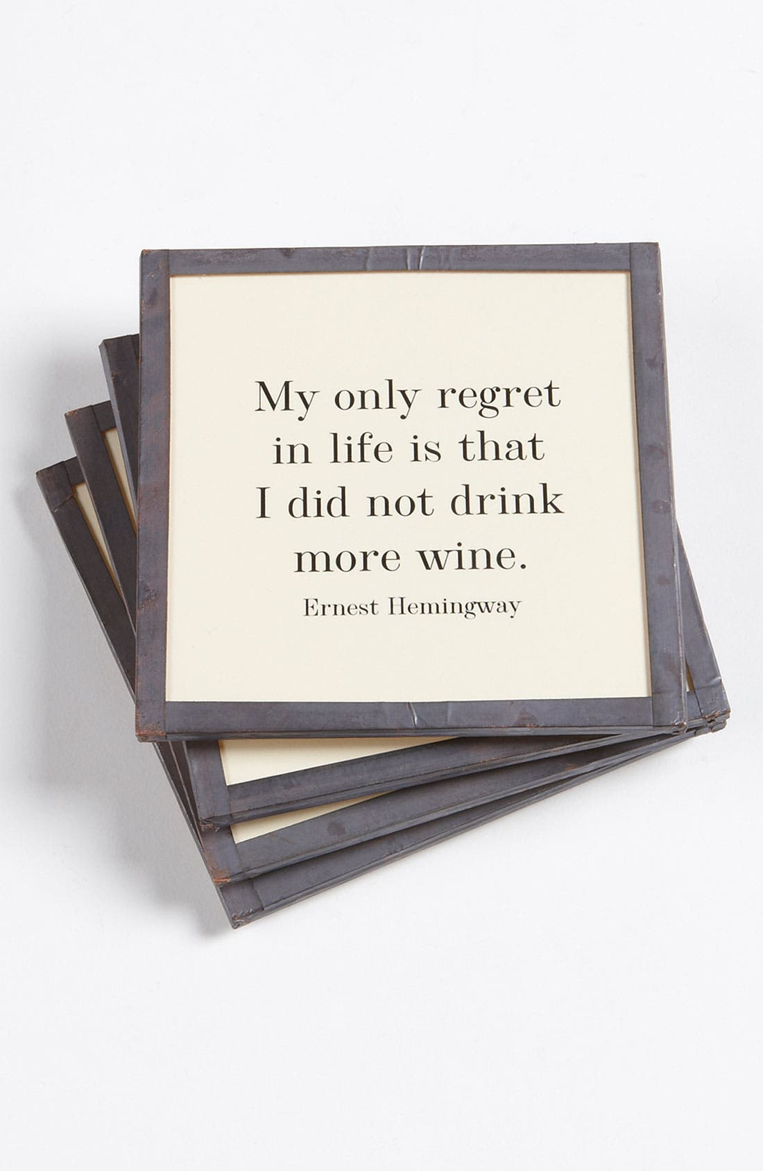 Alternate Image 1 Selected - Ben's Garden 'My Only Regret' Coaster Set