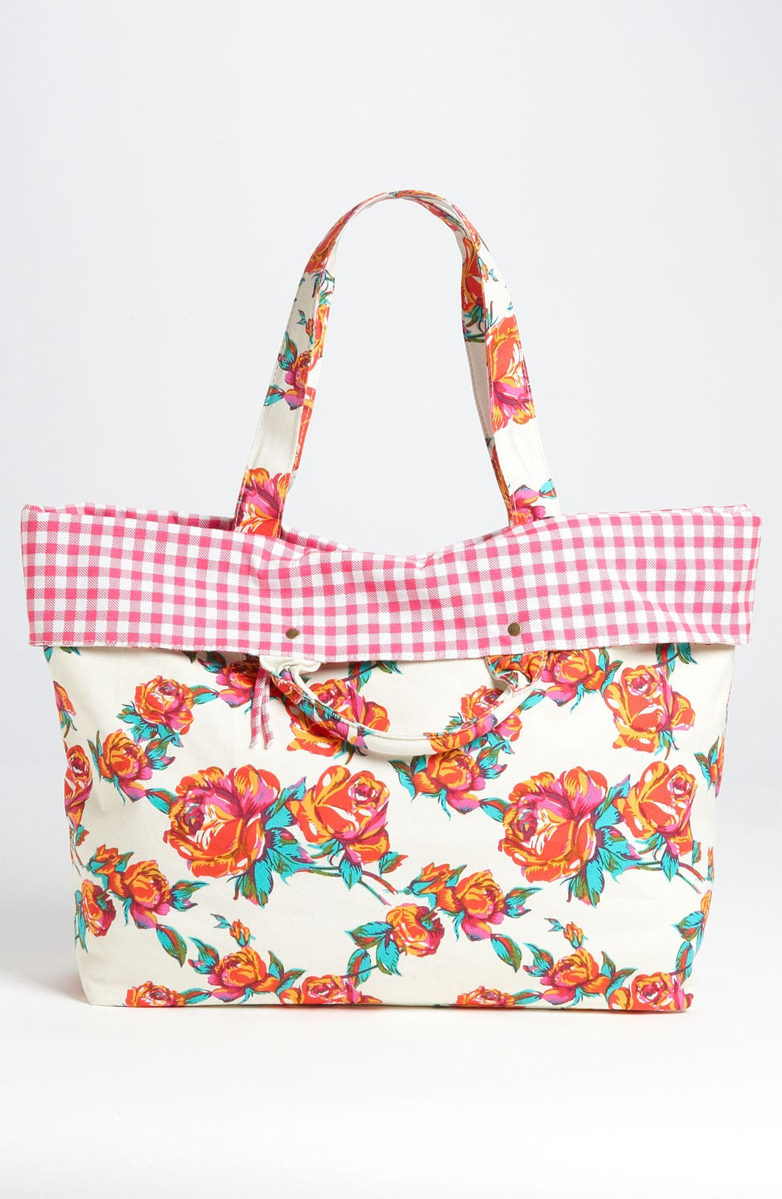 Alternate Image 4  - Betsey Johnson Rose Print Tote