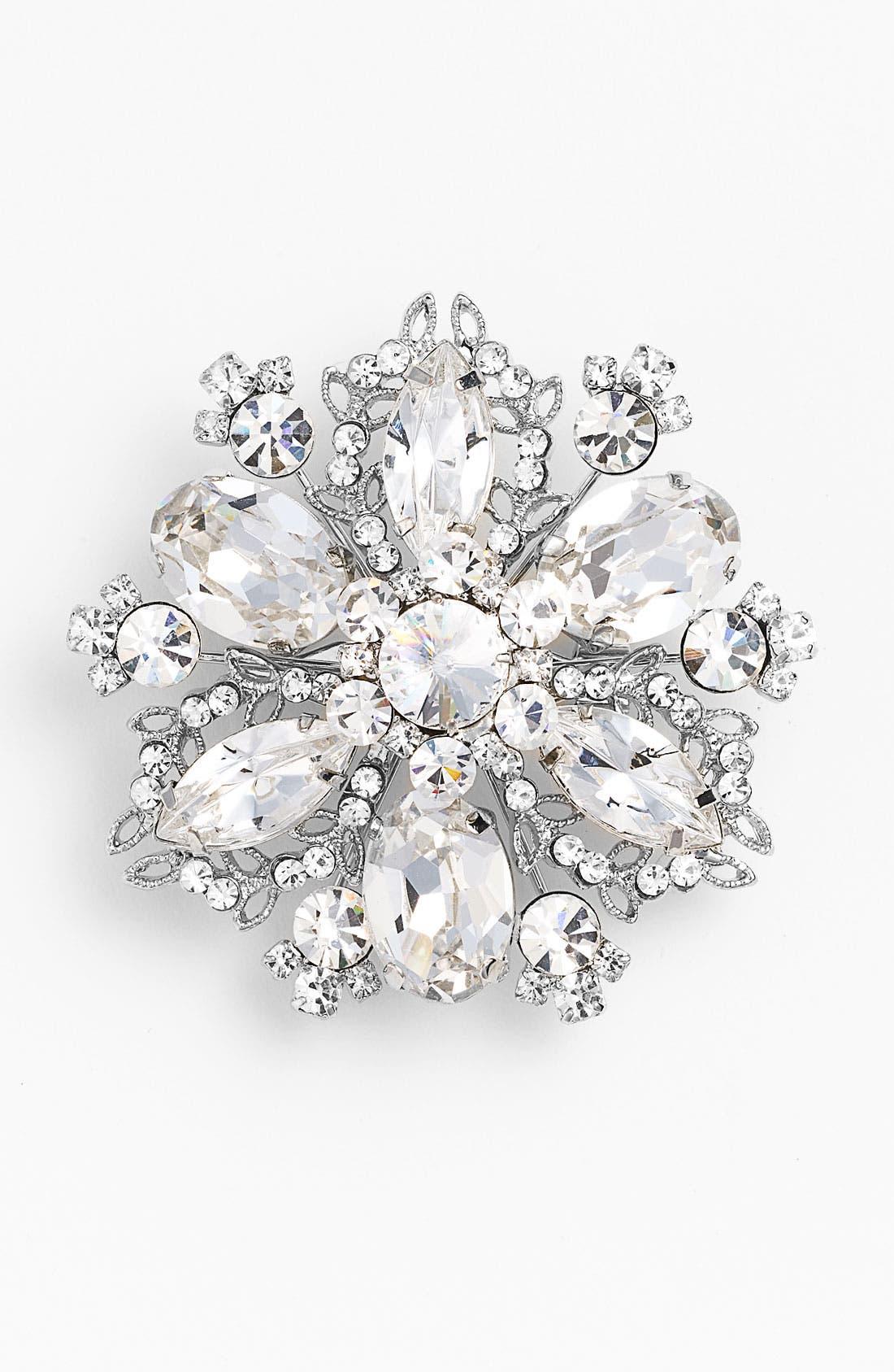 Main Image - Nina 'Treasure Floral' Crystal Brooch