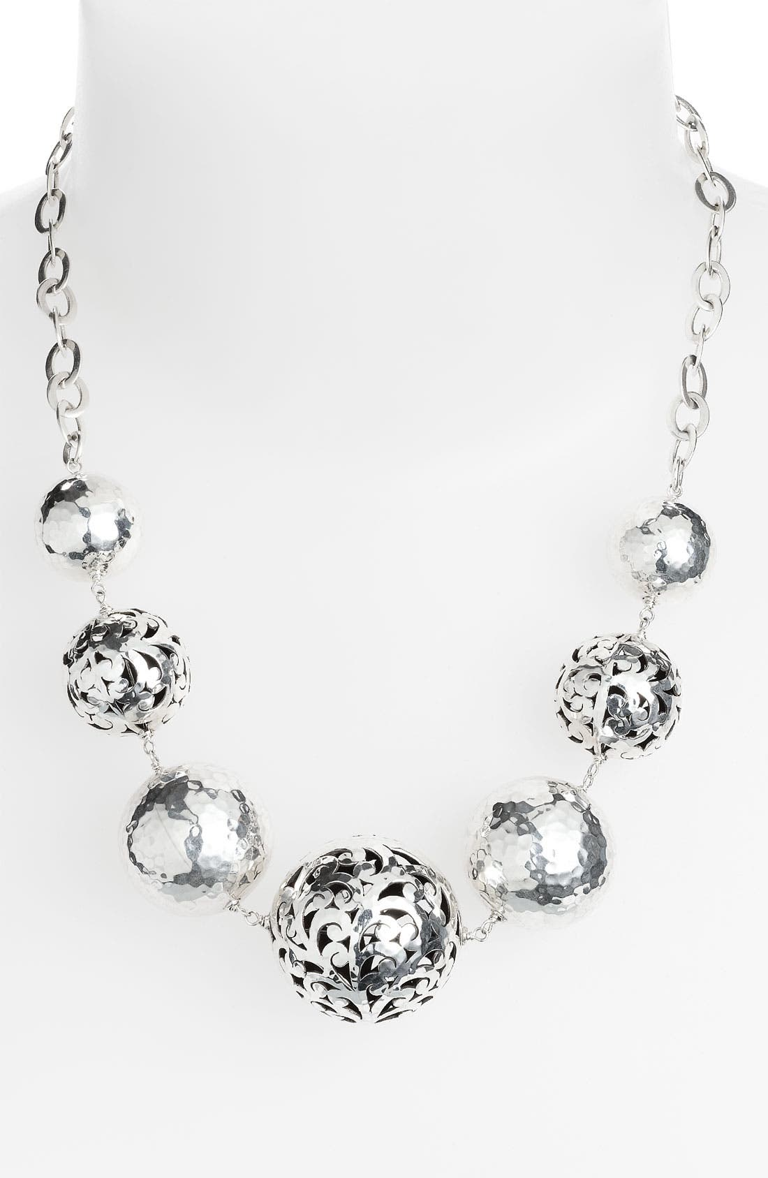 Main Image - Lois Hill 'Ball & Chain' Graduated Bead Necklace