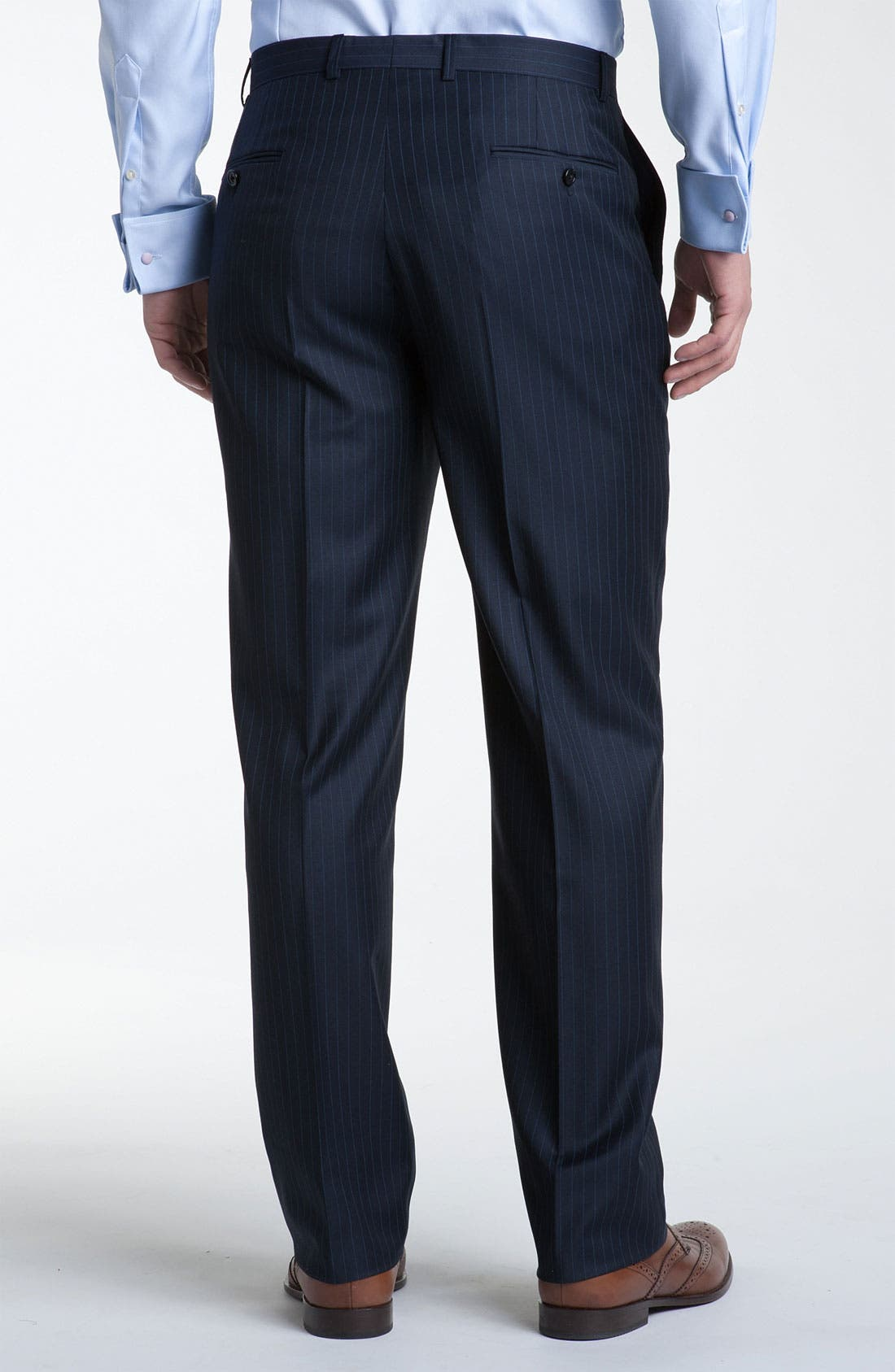 Alternate Image 5  - Hickey Freeman Bead Stripe Wool Suit