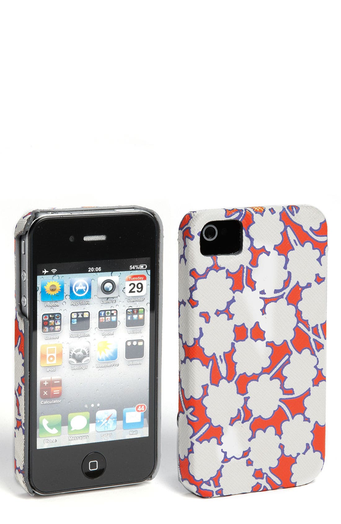 Alternate Image 1 Selected - Diane von Furstenberg Saffiano Printed iPhone 4 & 4S Case