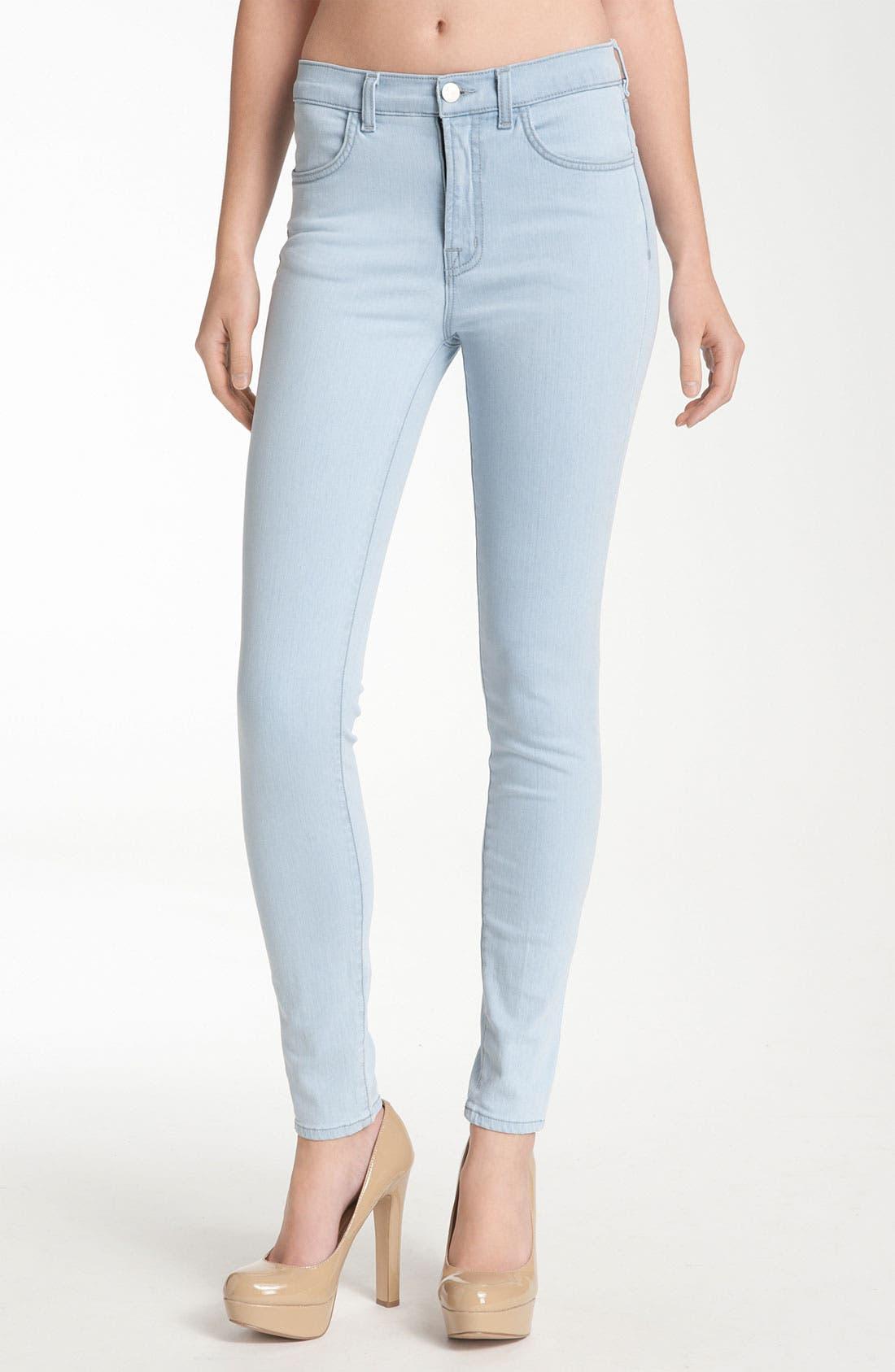 Alternate Image 1 Selected - J Brand 'Maria' High Rise Skinny Leg Stretch Jeans (Iceland)