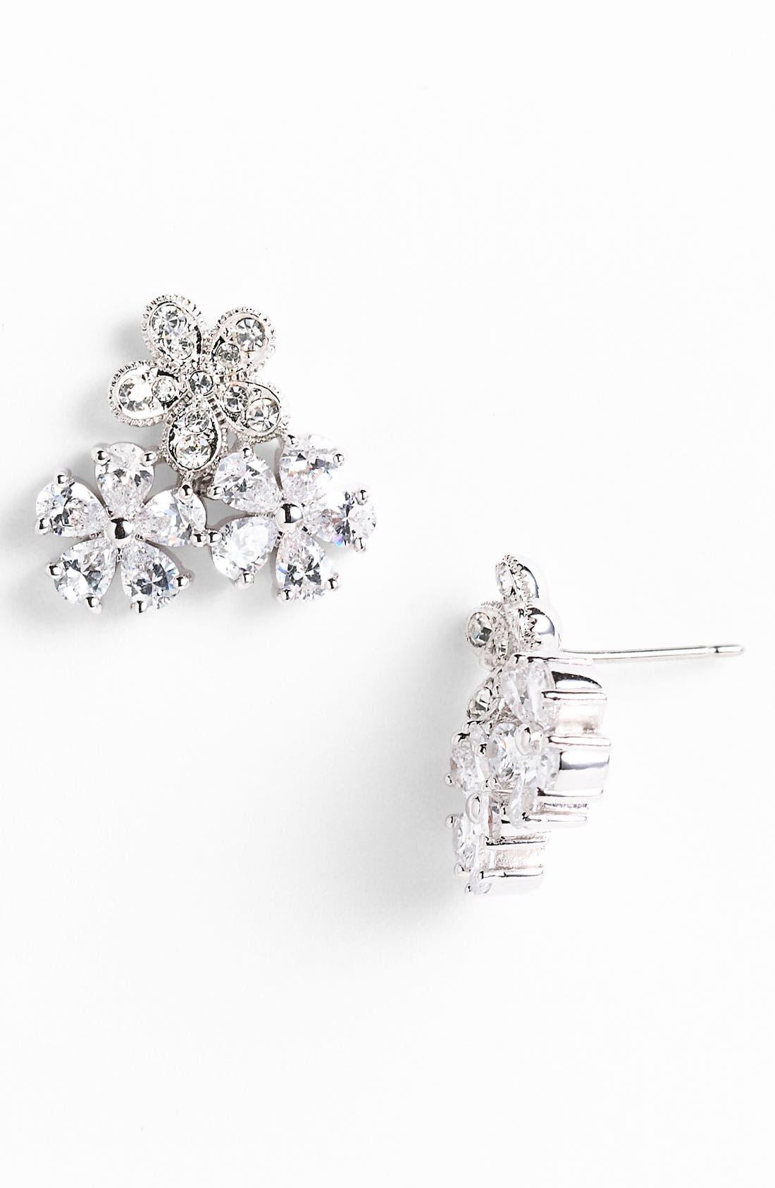 Main Image - Nadri 'Eden' Cluster Stud Earrings (Nordstrom Exclusive)