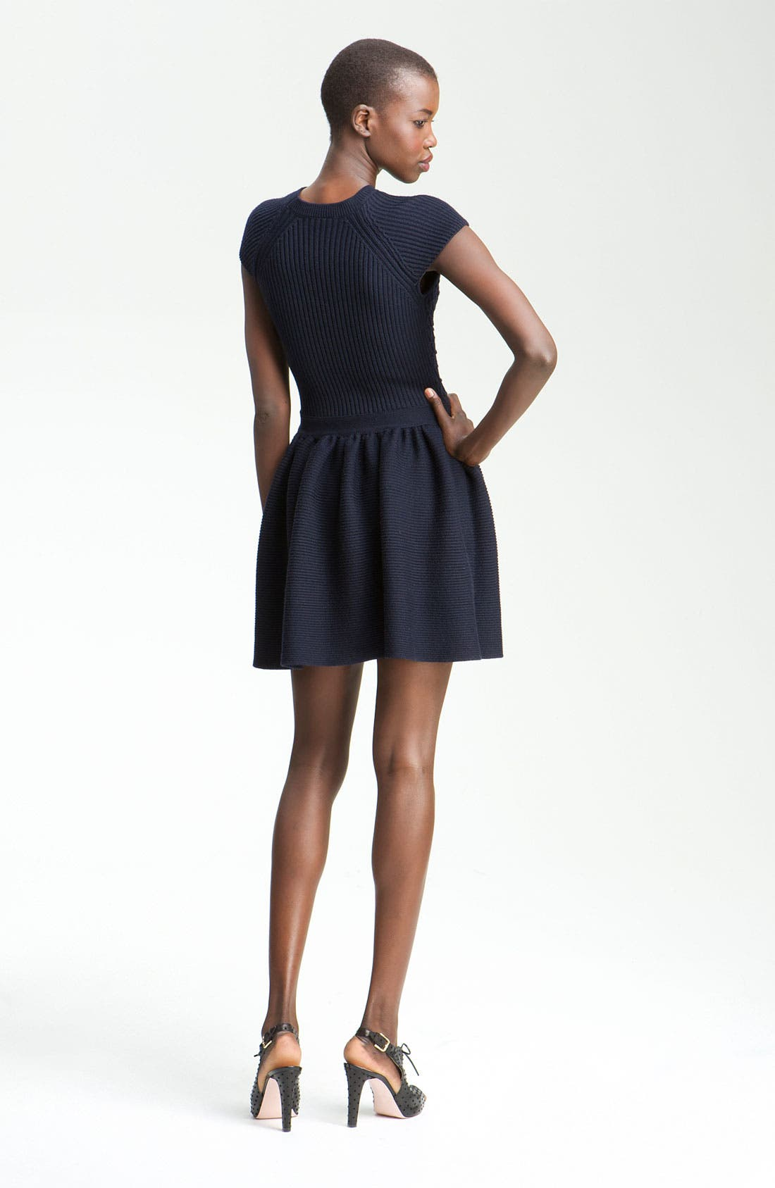 Alternate Image 2  - RED Valentino Knit Cap Sleeve Dress