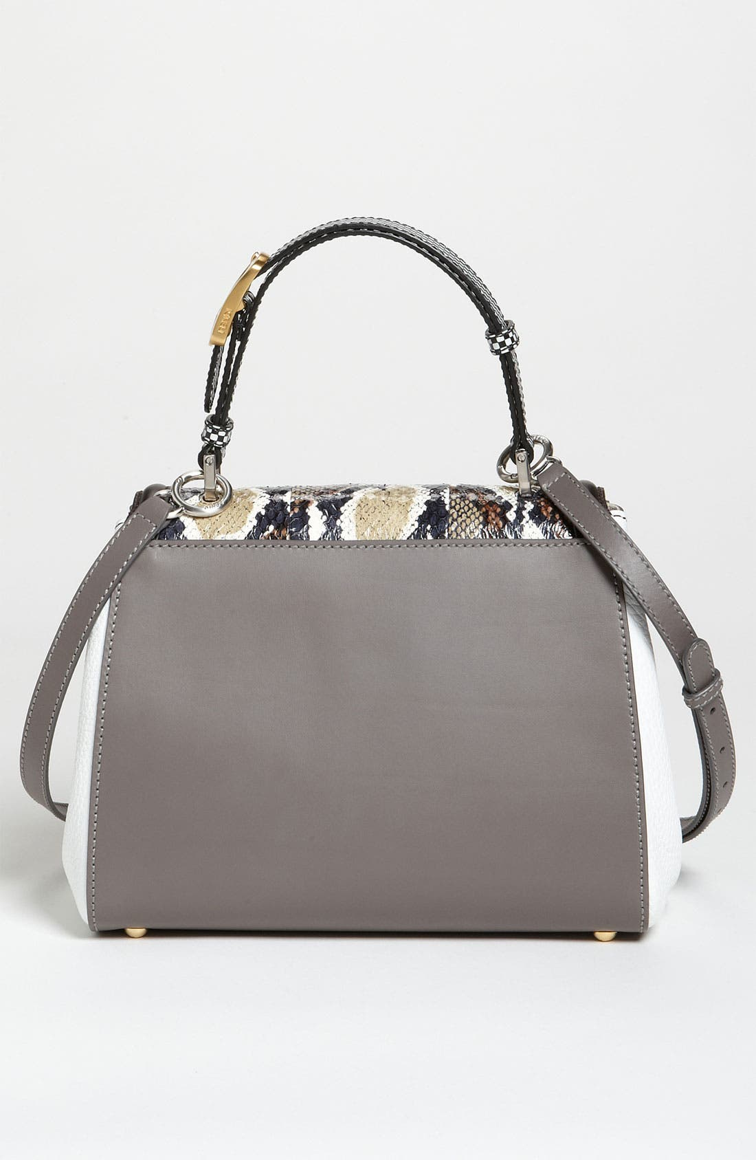 Alternate Image 4  - Fendi 'Silvana Elaphe Fantasy' Leather & Genuine Snakeskin Satchel