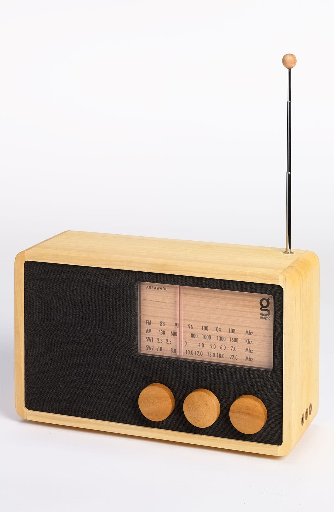 Alternate Image 3  - Handcrafted Pine & Mahogany 'Magno' Radio, Large