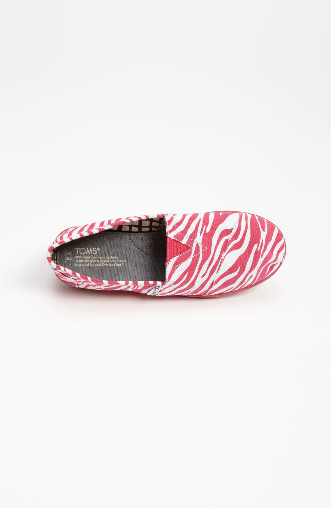 Alternate Image 3  - TOMS 'Berry Zebra - Youth' Slip-On (Toddler, Little Kid & Big Kid)