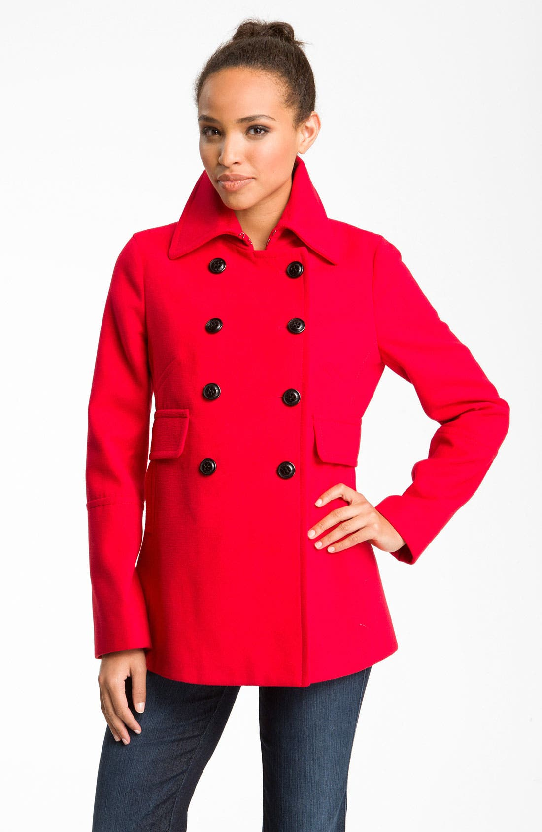 Alternate Image 1 Selected - DKNY 'Stacey' Double Breasted Coat