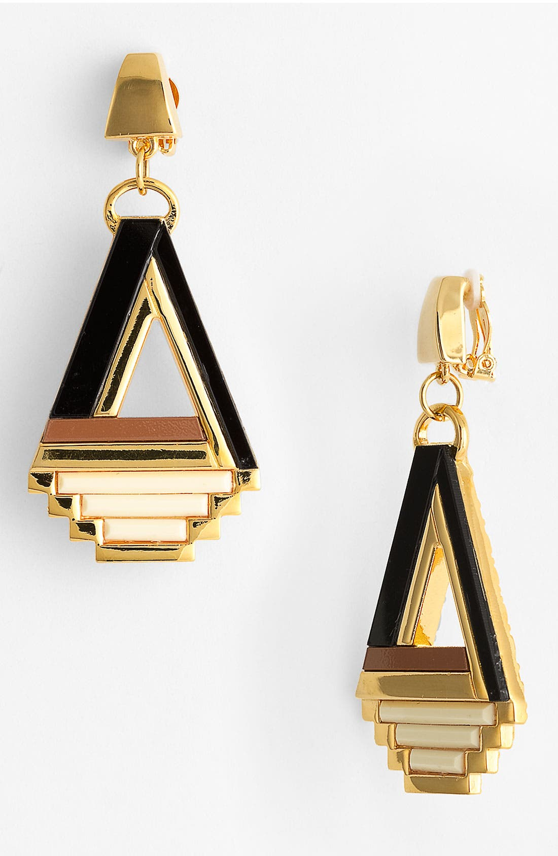 Alternate Image 1 Selected - Tory Burch 'Floyd' Statement Clip Earrings