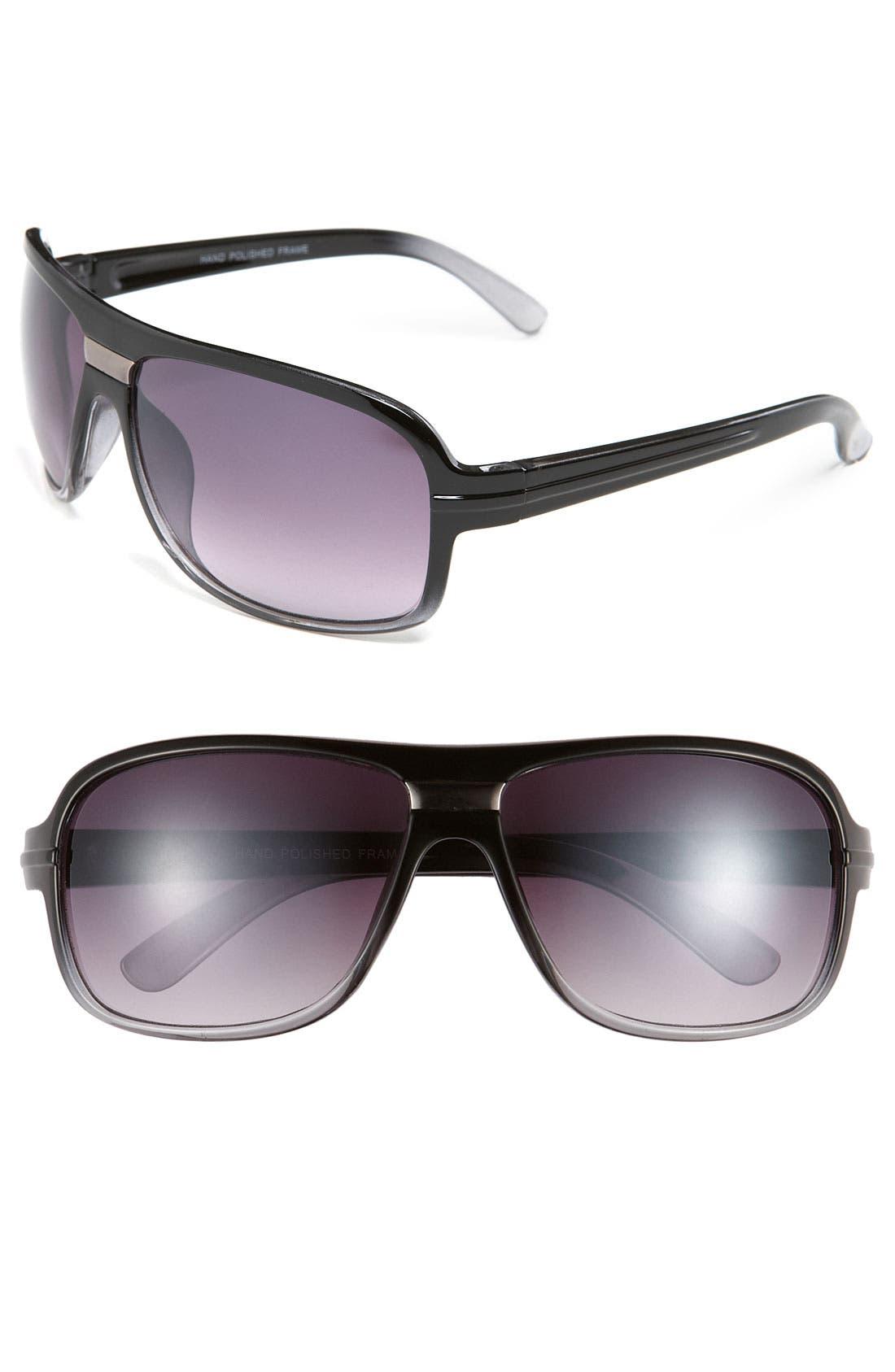 Main Image - KW 'Ron' 62mm Aviator Sunglasses
