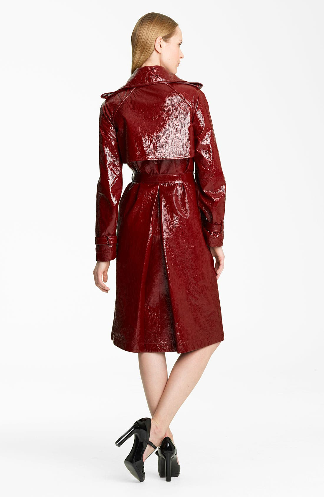 Alternate Image 2  - Lanvin Belted Crackle Patent Trench Coat