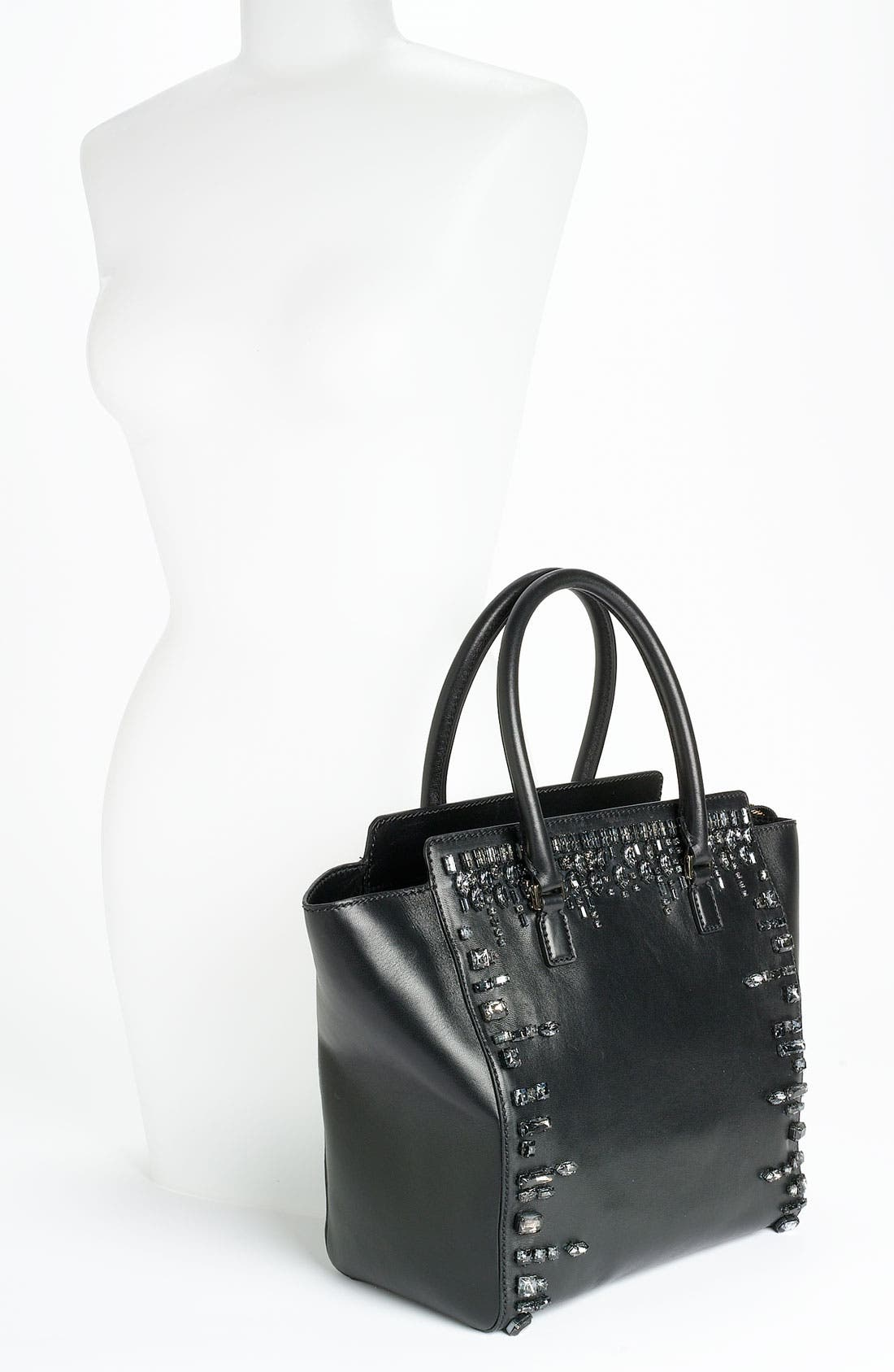 Alternate Image 2  - Valentino 'Crystal' Leather Shopper Tote