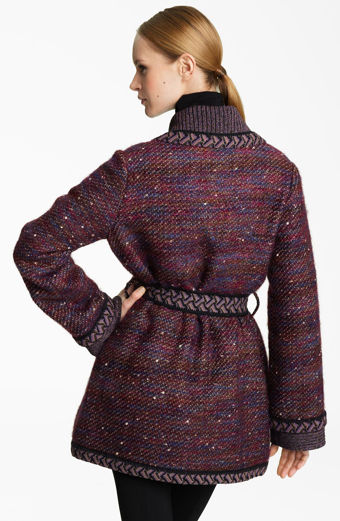 Alternate Image 2  - Missoni Belted Tweed Coat