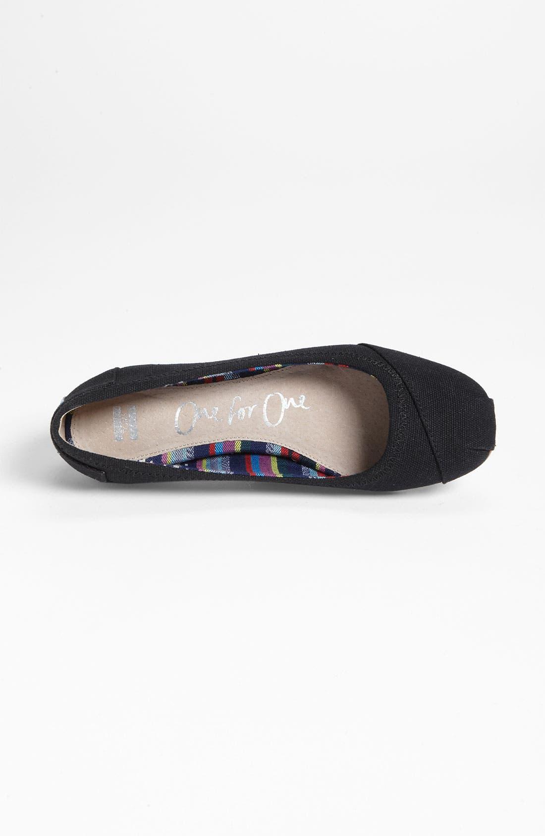 Alternate Image 3  - TOMS Ballet Flat