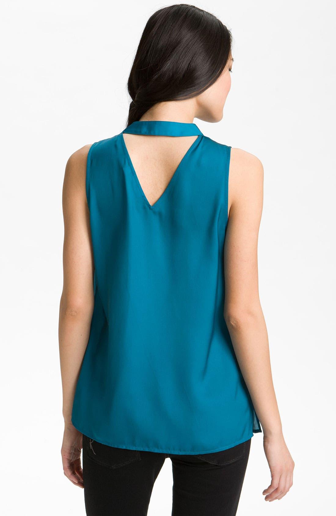 Alternate Image 2  - Halogen® Drape Neck Sleeveless Blouse