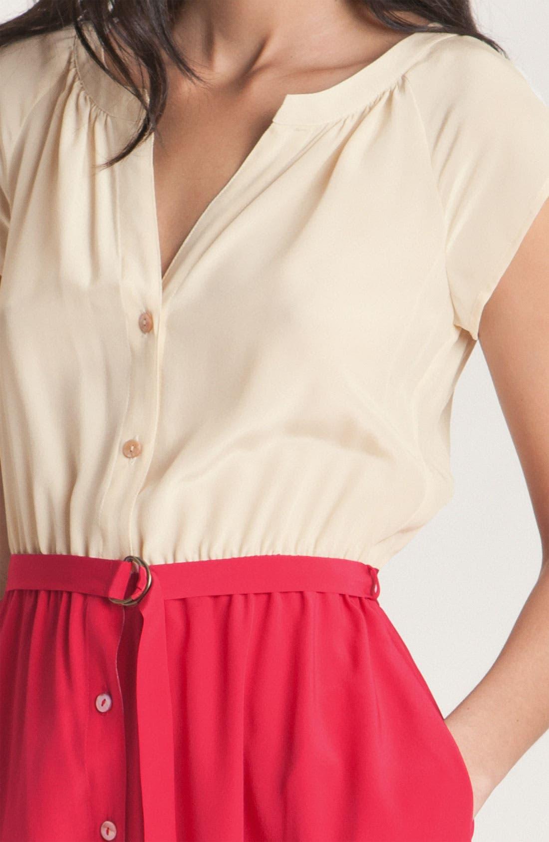 Alternate Image 3  - Presley Skye Belted Colorblock Silk Dress