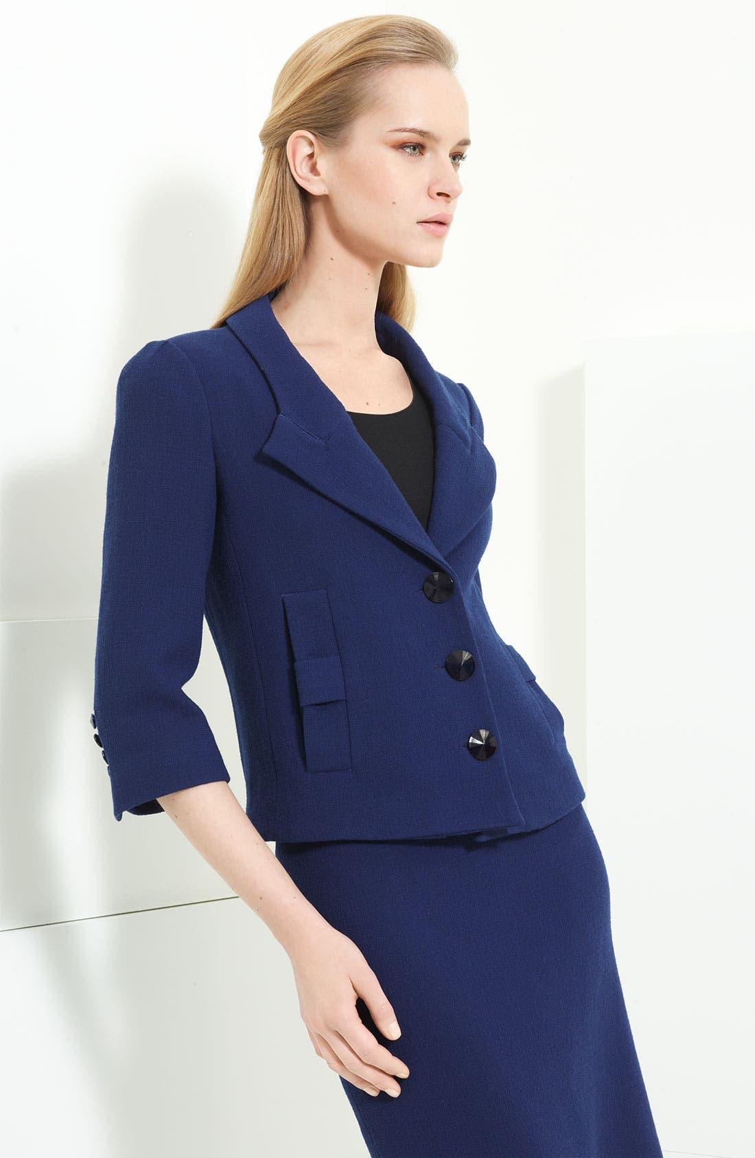 Main Image - Armani Collezioni Crepe Jacket