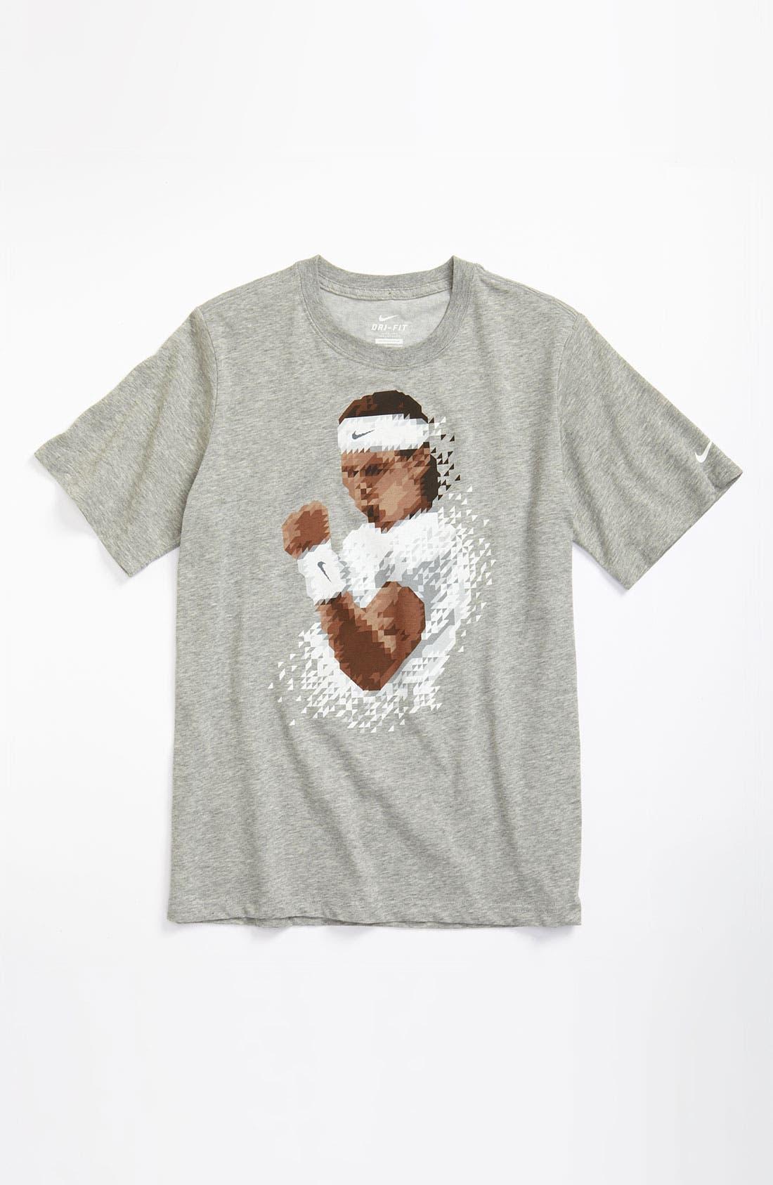 Alternate Image 1 Selected - Nike 'Rafa Pixel' Dri-FIT T-Shirt (Big Boys)