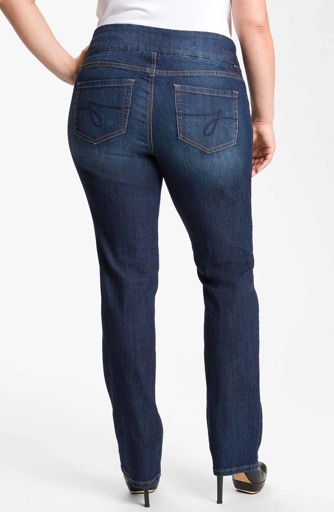 Alternate Image 2  - Jag Jeans 'Peri' Straight Leg Jeans (Plus Size)