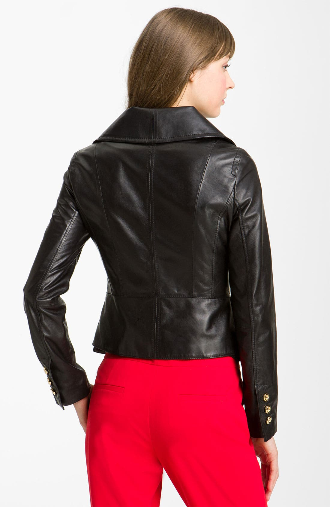 Alternate Image 2  - Kenneth Cole New York Wing Collar Leather Jacket