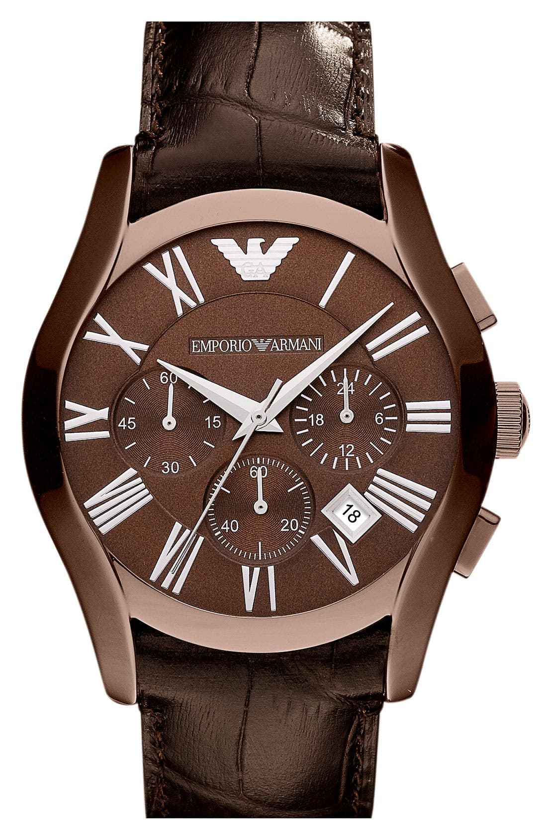 Alternate Image 1 Selected - Emporio Armani 'Classic' Round Chronograph Watch